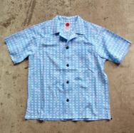 【045 Yoko-Hama Collar Shirt】豆絞り柄