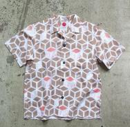 【045 Yoko-Hama Collar Shirt】きゅうぶ柄
